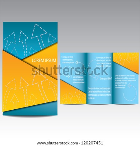 Vector Brochure Design Template - stock vector