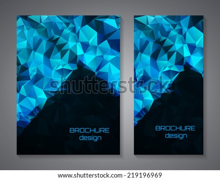Vector brochure design template - stock vector