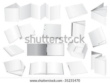 Vector brochure dummy - stock vector