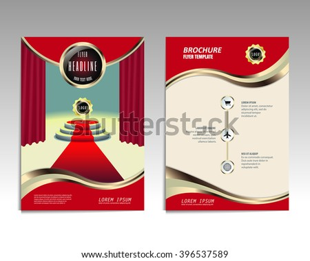 Vector brochure flyer design layout template, Front and back pages, infographics. Size A4. - stock vector