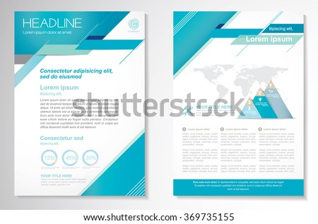 Vector Brochure Flyer design Layout template, Front page and back page, Easy to use and edit. - stock vector