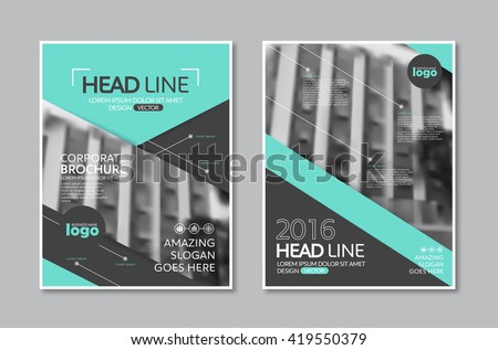 Vector Brochure Flyer design Layout template in A4 size,book cover layout design - stock vector