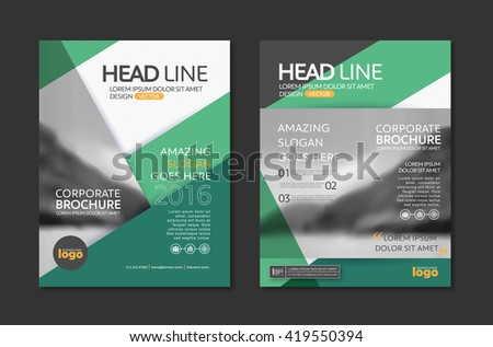 Vector brochure flyer design layout template stock vector for Company profile brochure template