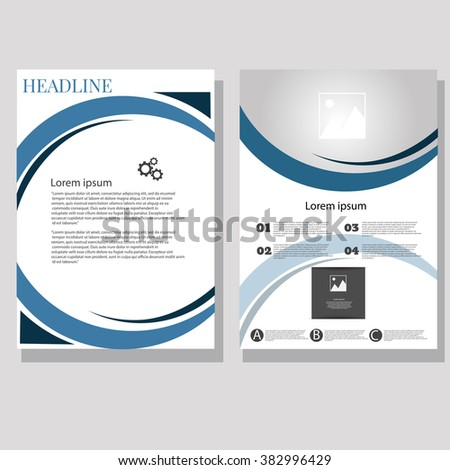 Vector Brochure Flyer design Layout template size A4а front and back page eps 10 - stock vector