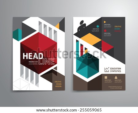 Vector brochure, flyer, magazine cover booklet poster design template.layout education annual report A4 size. - stock vector