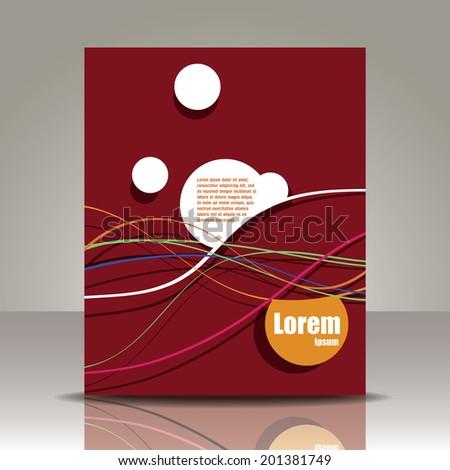 Vector  brochure, flyer, magazine cover & poster template - stock vector