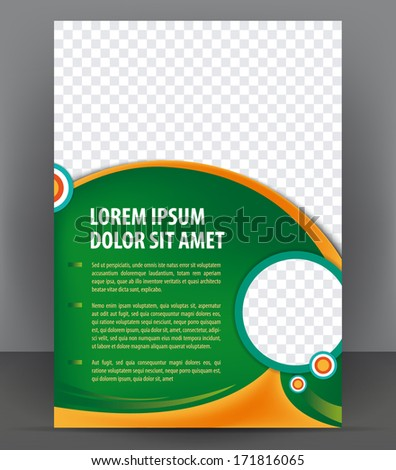Vector brochure, flyer, magazine, poster and cover empty template - stock vector
