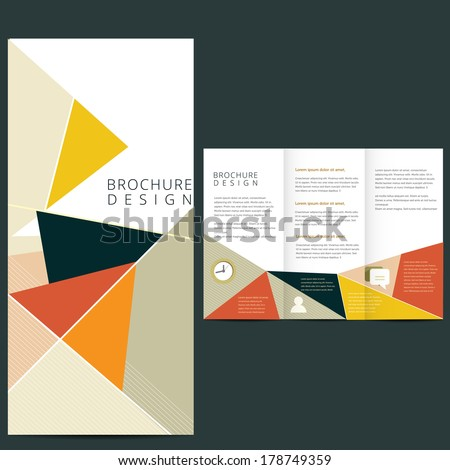 Vector Brochure Layout design template - stock vector
