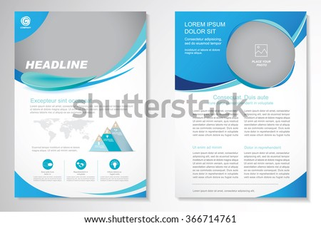 Vector Brochure  Layout template, Front page and back page,  Easy to use and edit.