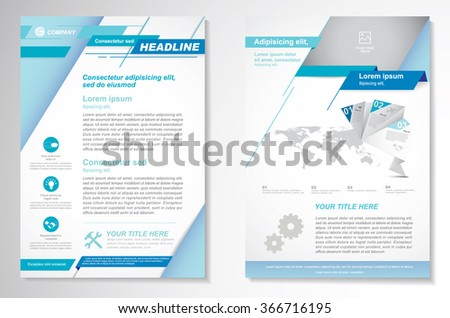 Vector Brochure  Layout template, Front page and back page,  Easy to use and edit. - stock vector