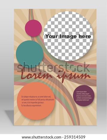 Vector  brochure or magazine cover  template. EPS - stock vector