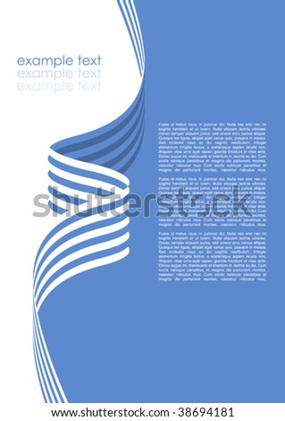 Vector Brochure Template - stock vector