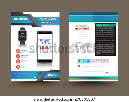Vector Brochure Template Design Technology Product Stock Vector - Technology brochure template