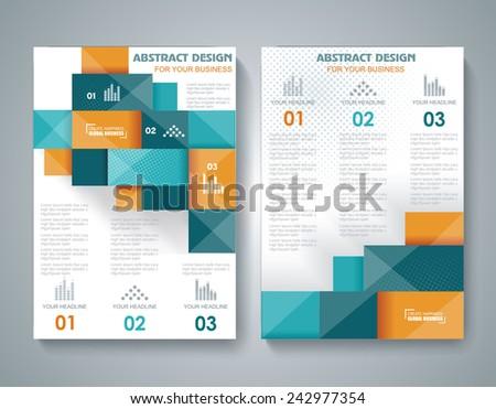 Vector brochure template design 3d elements stock vector for 3d brochure design