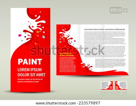 Vector Brochure Trifold Layout Design Template Stock Vector - Brochure trifold template