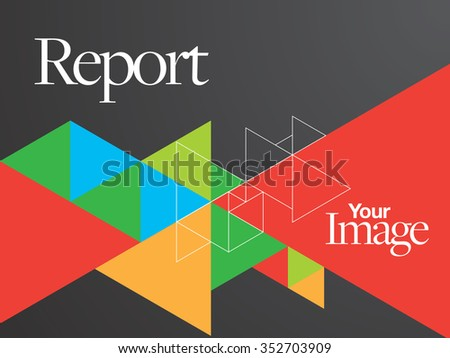 Vector Brochure / Web Page / TV Show Layout Design Template - stock vector