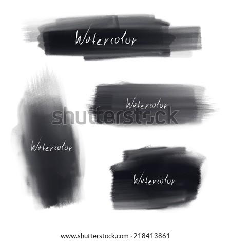 vector brush stroke set - stock vector
