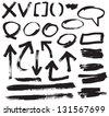 vector brush stroke VOL 4 - stock vector