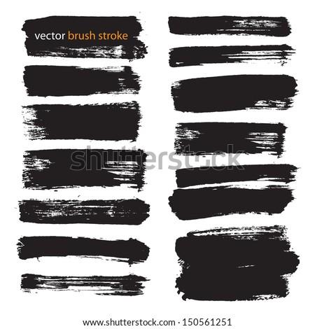 vector brush stroke VOL 3 - stock vector