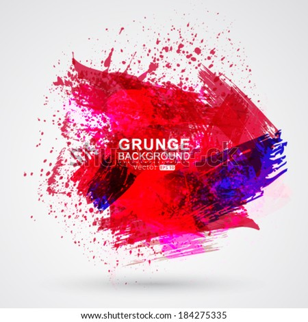 Vector brush strokes and ink. Abstract design element. - stock vector