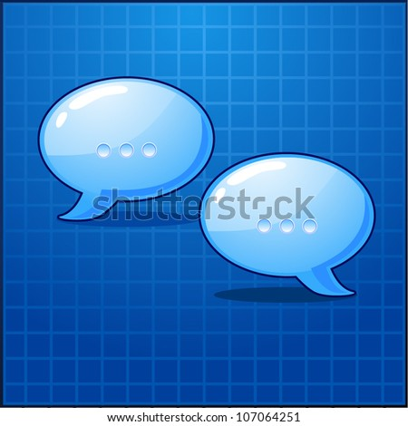 vector bubble chat icon - stock vector