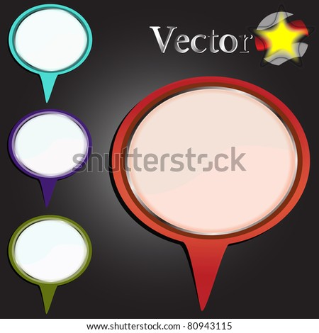 Vector bubble for business or web usage - stock vector