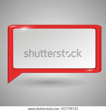 Vector bubble speech background. Eps10. - stock vector