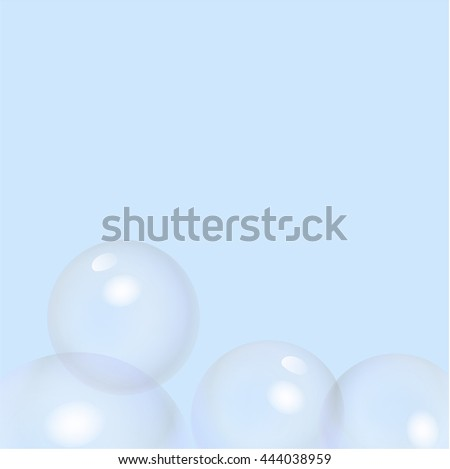 Vector bubbles background. The elements of design