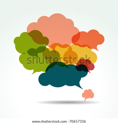 vector bubbles for speech - eps10 - stock vector