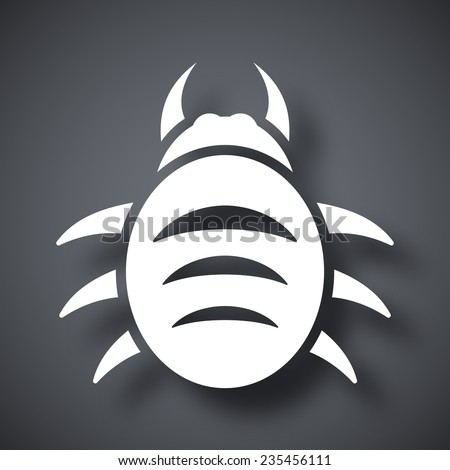 Vector bug icon - stock vector