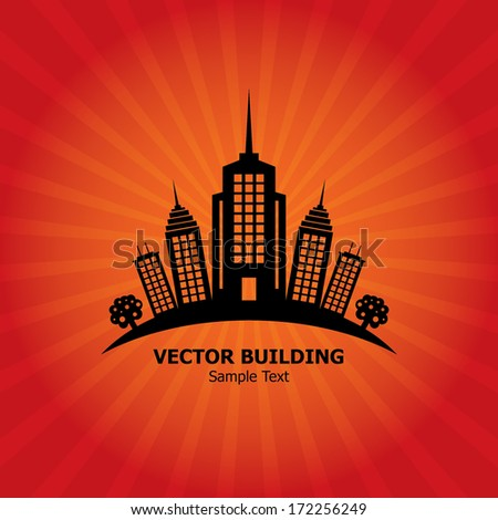 Vector Building - stock vector