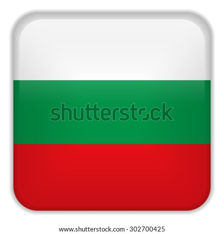 Vector - Bulgaria Flag Smartphone Application Square Buttons - stock vector