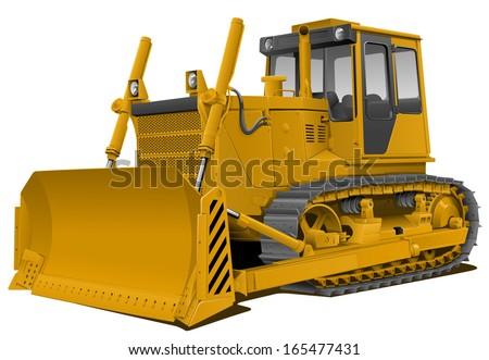 Vector Bulldozer - stock vector