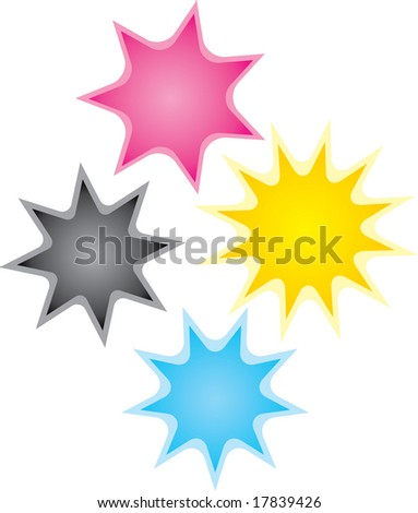 vector bursts of color! Great for special announcements, poster designs, etc. - stock vector