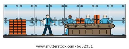 Vector business background. Editable illustration. - stock vector