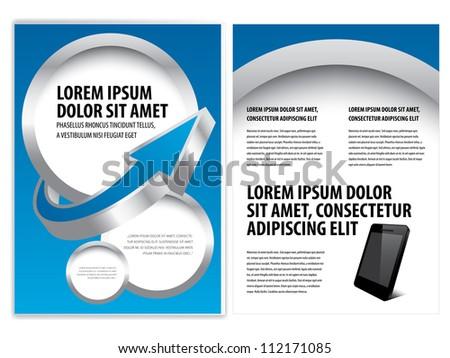 vector business brochure, flyer template - stock vector