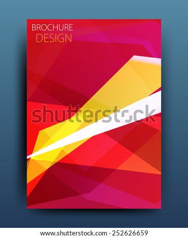 Vector business brochure flyer template or corporate banner design in A4 size. Modern abstract web, poster ,brochure design template - stock vector