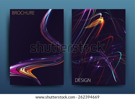 Vector business brochure flyer templates or corporate banner design in A4 size. Modern abstract web, poster ,brochure design templates. - stock vector