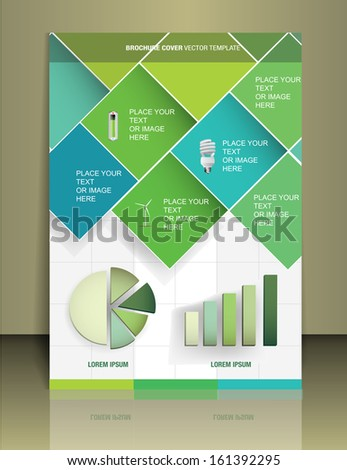 Vector  business brochure or magazine cover  template - stock vector