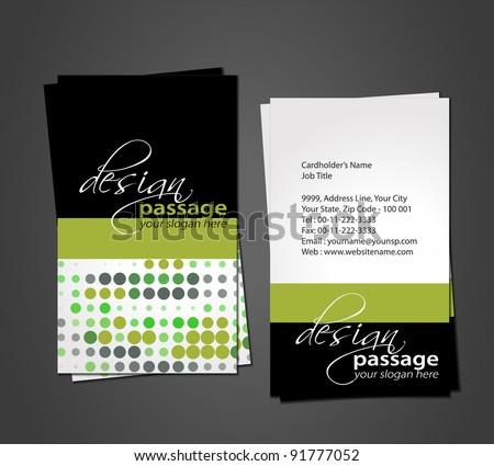 vector business card - stock vector