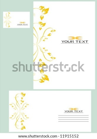 Vector business card and letter-2 - stock vector
