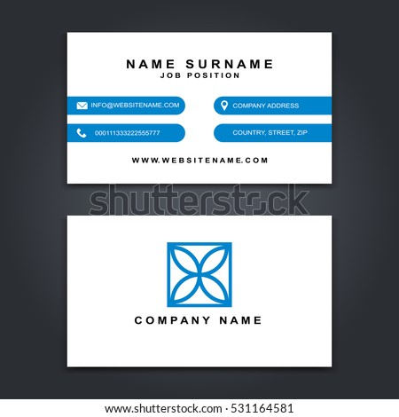 Vector business card creative design modern stock vector hd royalty vector business card creative design modern trend style front and back samples luxury reheart Images