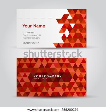 Vector Business Card set - stock vector