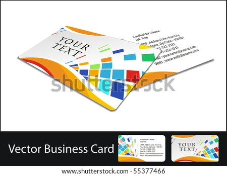 vector business card set. - stock vector