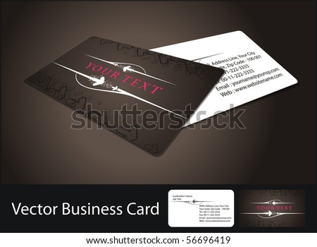 vector business card set, - stock vector