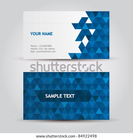 Business Card Icons Vector Vector Business Card Set
