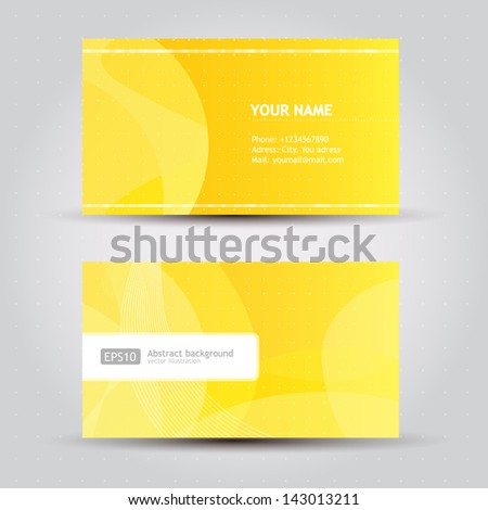 Vector Business Card set elements for design - stock vector