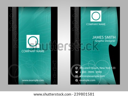 Vector business card set, elements for design  - stock vector