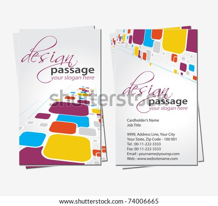 vector business card set, elements for design. - stock vector