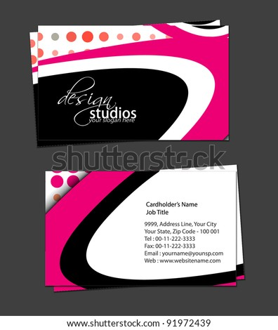 vector business card set , elements for design. - stock vector